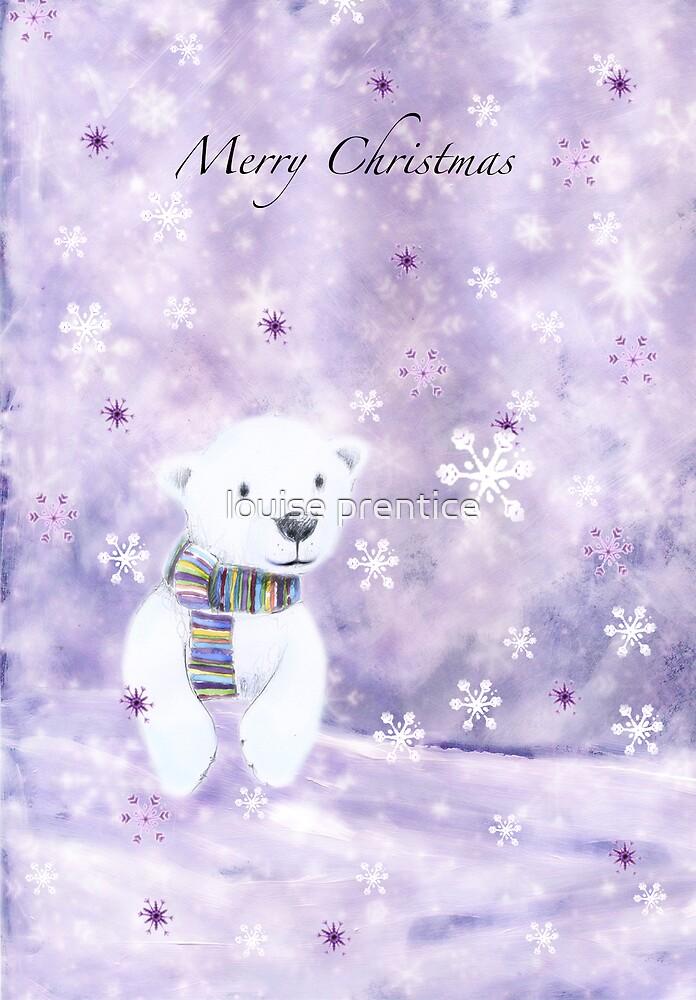 Winter polar bear by louise prentice