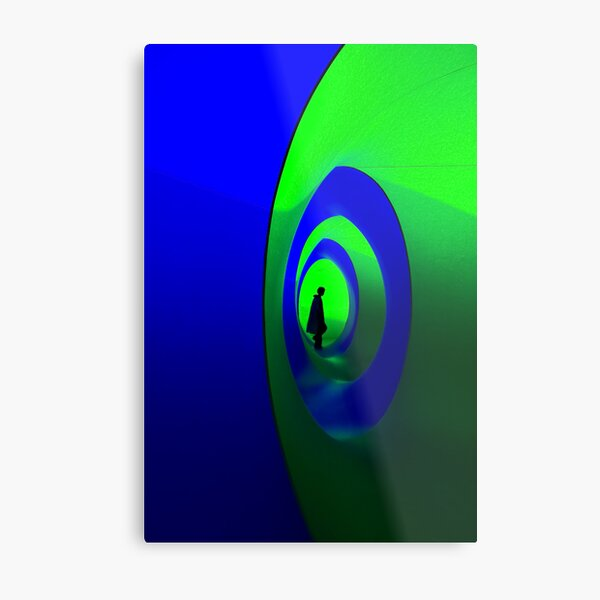 Blue and Green Solo Metal Print