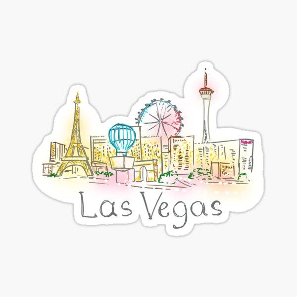 Las Vegas Panorama at night Sticker