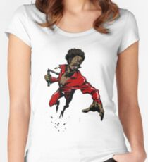 The Afroman Fighter Women's Fitted Scoop T-Shirt