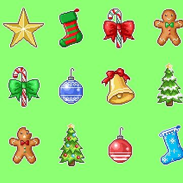 Pixel Christmas Set by maicakes