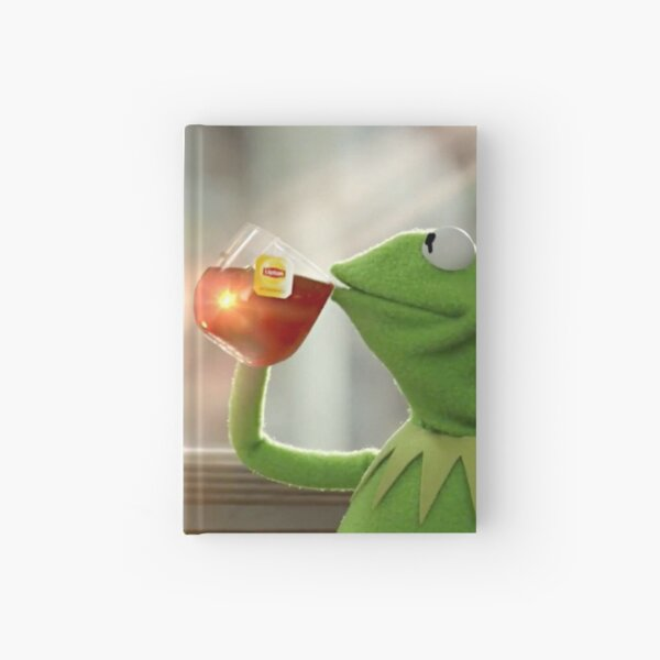 Kermit Sipping Tea Hardcover Journal