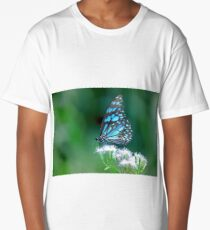 Blue spotted milkweed butterfly Long T-Shirt