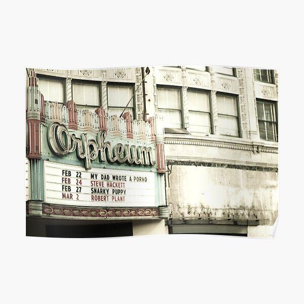 Orpheum Theatre in Los Angeles Poster