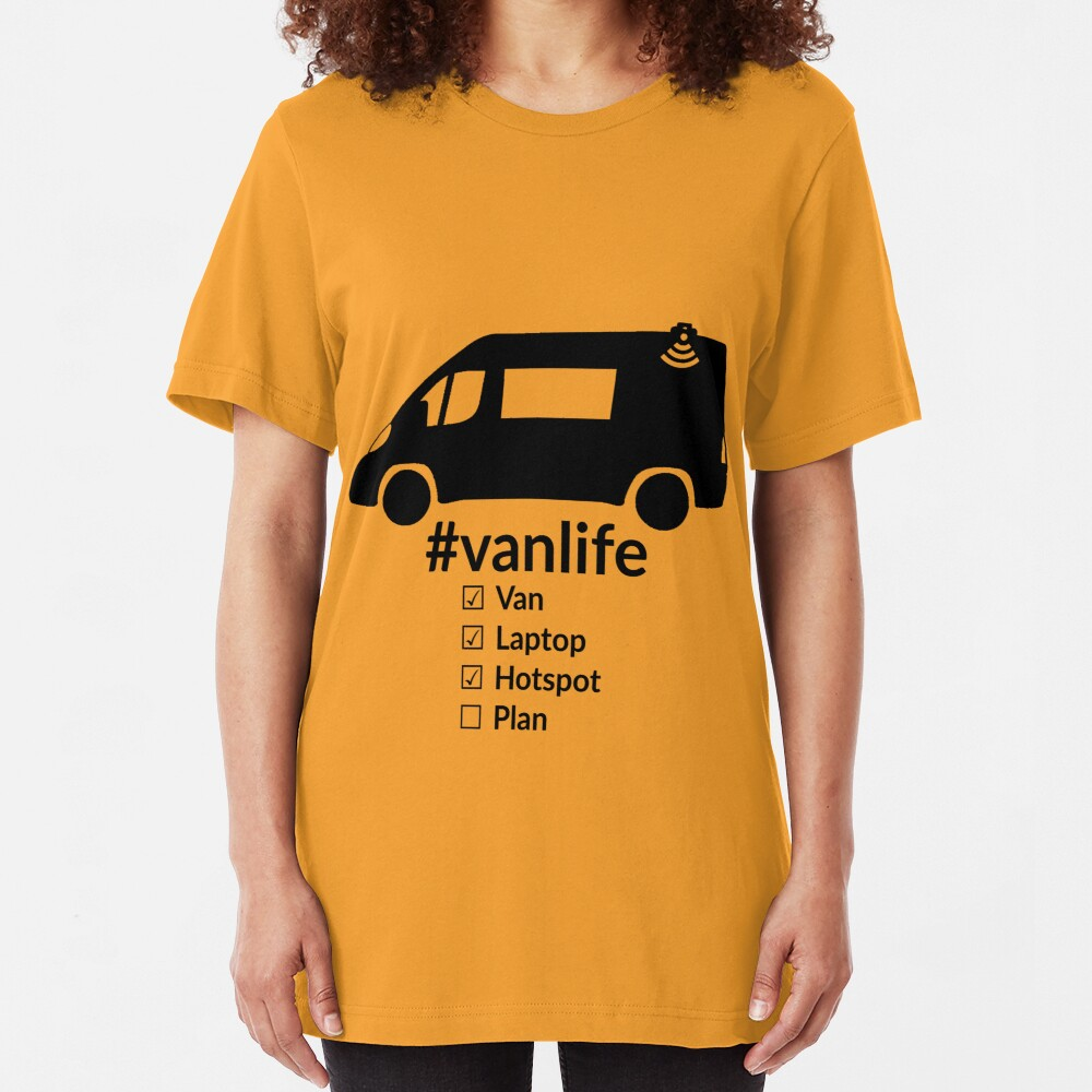 Vanlife checklist black Slim Fit T-Shirt