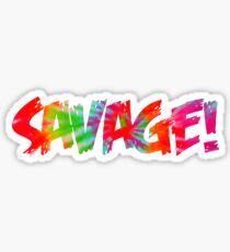 Savage Tye Dye Effect Sticker