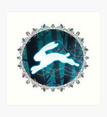 Magical Animal Hare Art Print