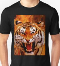 Tiger and Flame Unisex T-Shirt