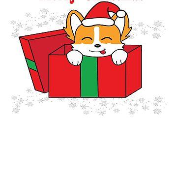 Christmas Corgi by KidCorgi