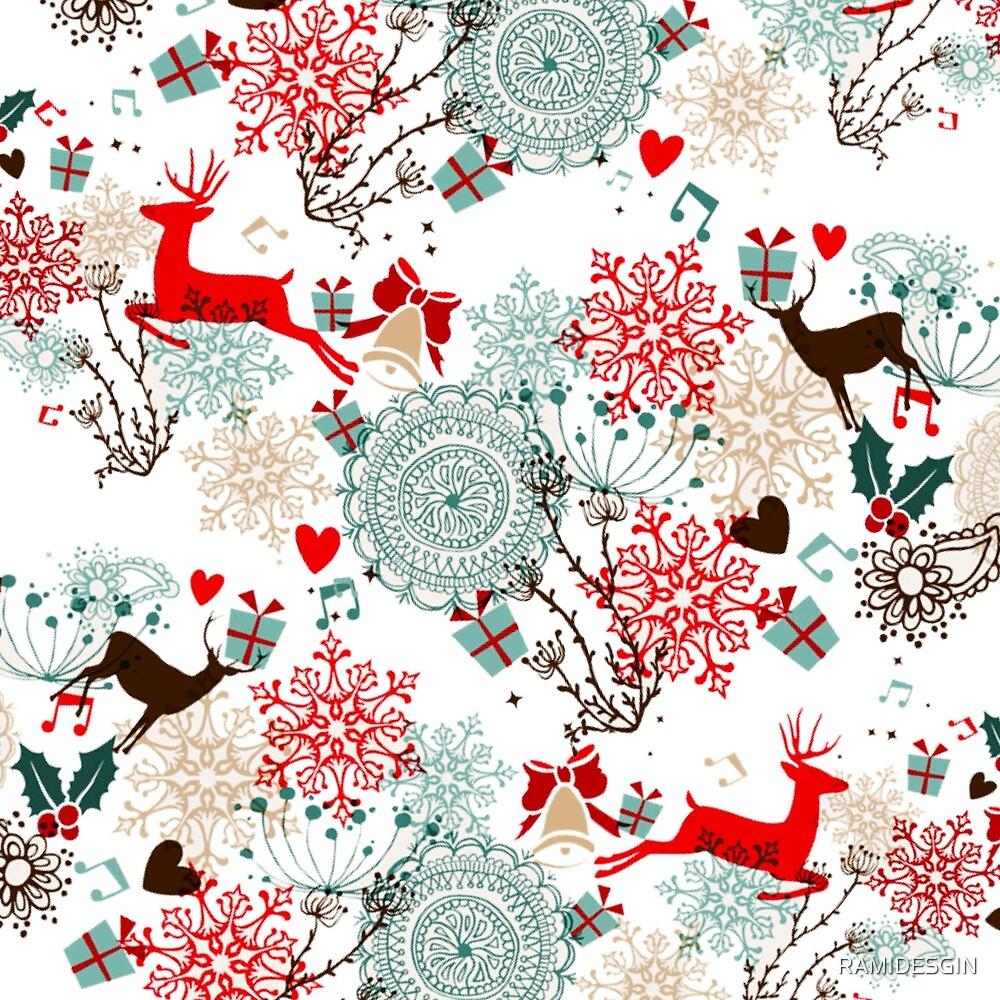 Christmas texture design  by RAMIDESGIN