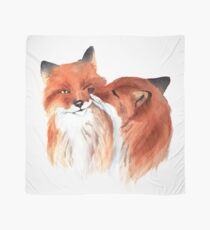 Watercolor foxes in love  Scarf