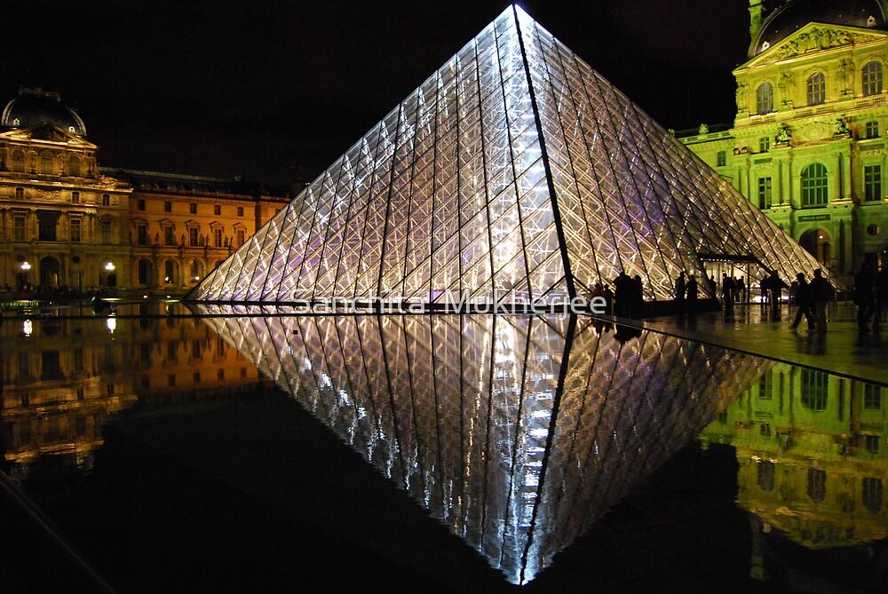 Louvre - a reflection by Sanchita  Mukherjee