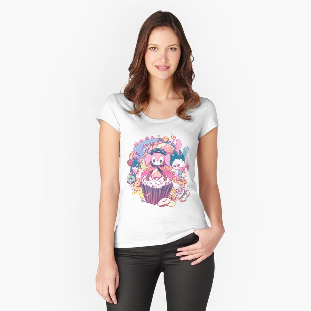Puella Magi Madoka Magica - Charlotte und Freunde Tailliertes Rundhals-Shirt