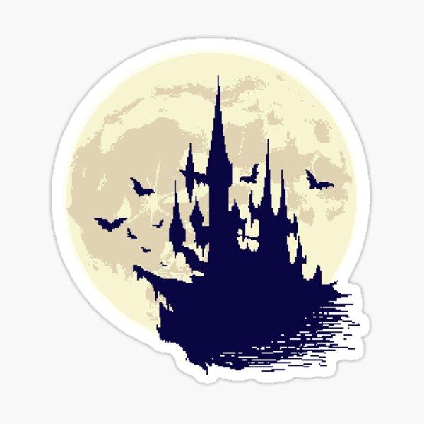 Pixel Castle Sticker