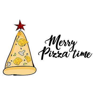 Merry pizza Christmas time by Milatoo