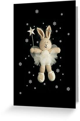 christmas angel bunny by bunnyknitter