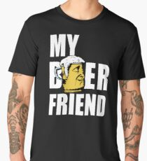 My Beer Friend - Cool Funny Drinking Design Men's Premium T-Shirt