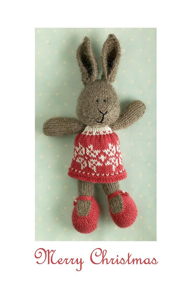christmas bunny girl by bunnyknitter