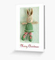 christmas bunny girl (2) Greeting Card