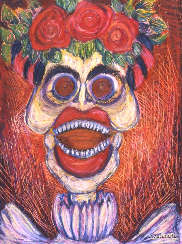 Calavera of Frida Kahlo Laughing by Candace Byington