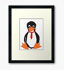 Tux Means Business Framed Print