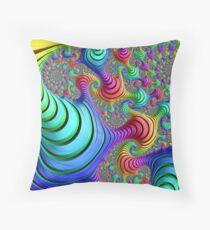 Rainbow Funk Throw Pillow