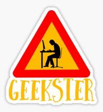 Geekster - Geek Gangster - Cool Funny Nerdy Design Sticker