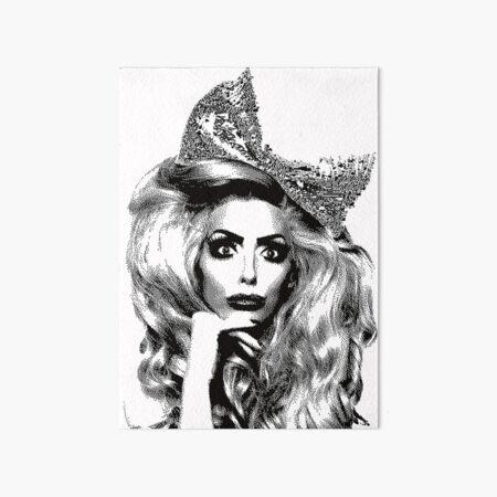 Alyssa Edwards Dots Art Board Print