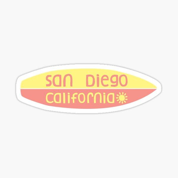 San Diego- Tabla de surf Pegatina