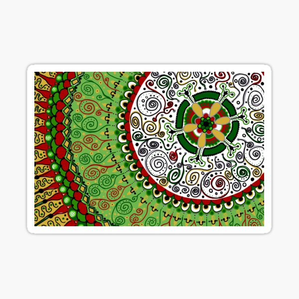 Merry Christmas Mandala Sticker