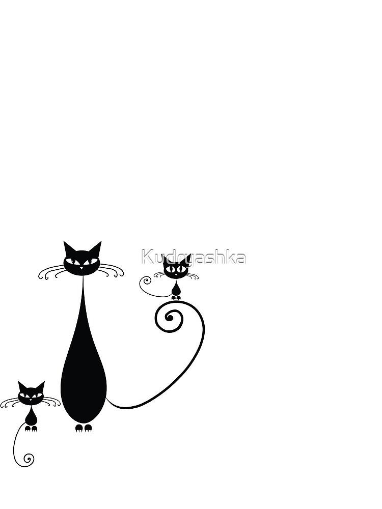 Black cats family by Kudryashka