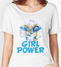 smurfettes girl power Women's Relaxed Fit T-Shirt