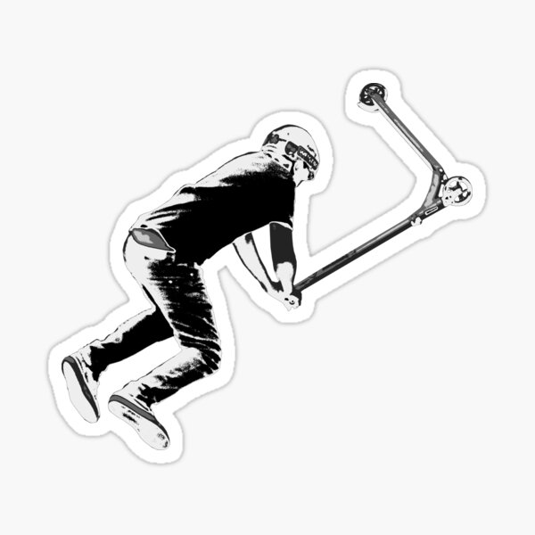 Holding On! - Stunt Scooter Move Sticker
