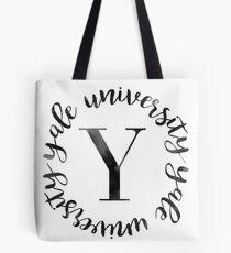 Yale University Black Ink Circle Tote Bag