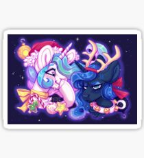 a Luna & Celestia christmas! Sticker