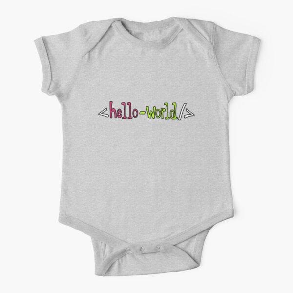 Hello World Geeky Pun Short Sleeve Baby One-Piece