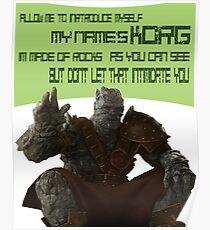 KORG Allow Me To Introduce Myself Poster