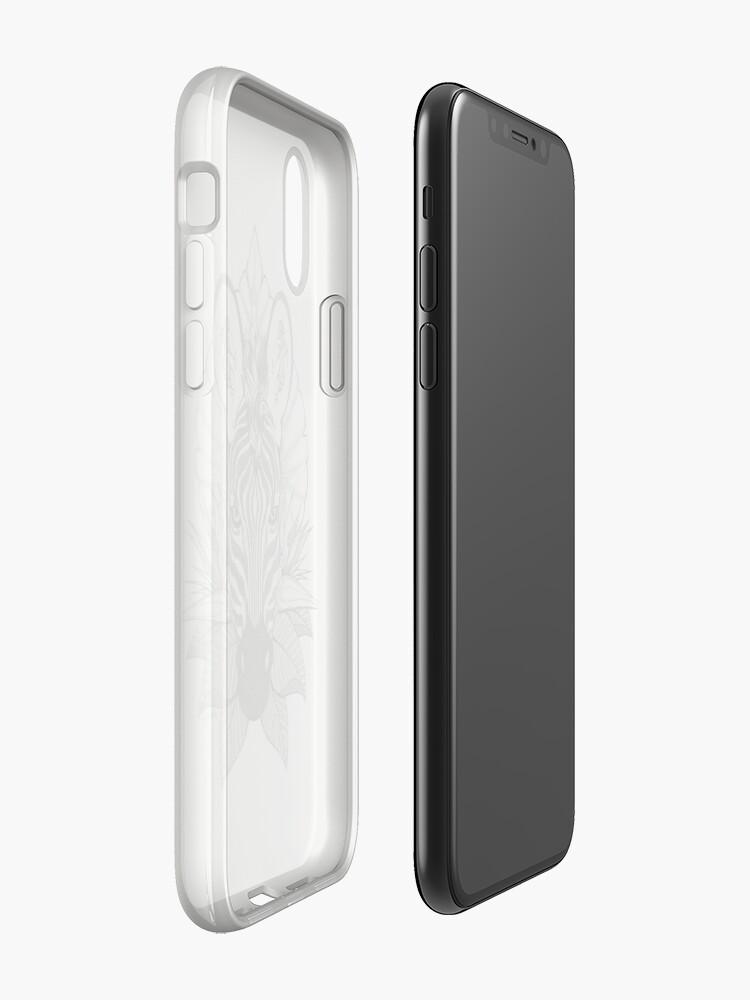 Alternate view of Zebra & Jungle Leaves iPhone Case & Cover
