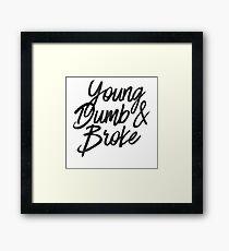 Young Dumb & Broke Watercolor - Cool Khalid Sticker T-Shirt Pillow Framed Print