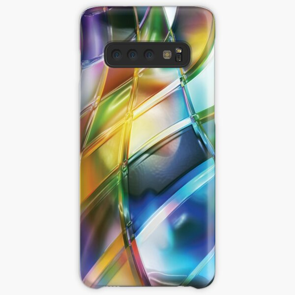 Vibrant Abstract Warp Squares Samsung Galaxy Snap Case