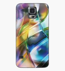 Vibrant Abstract Warp Squares Case/Skin for Samsung Galaxy