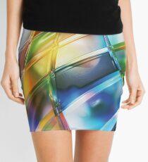 Vibrant Abstract Warp Squares Mini Skirt