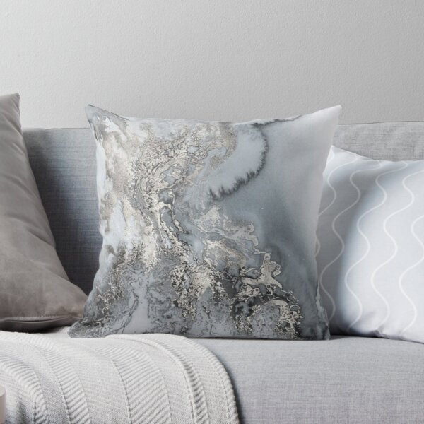 unique marble rock look Throw Pillow