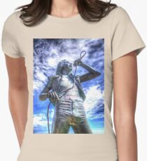 Bon Scott Statue -  HDR - Fremantle WA Womens Fitted T-Shirt