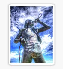 Bon Scott Statue -  HDR - Fremantle WA Sticker