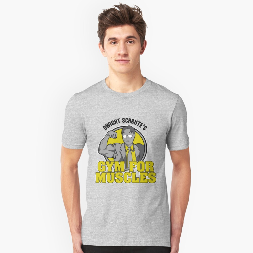 Dwight Schrute's Gym for Muscles Unisex T-Shirt Front
