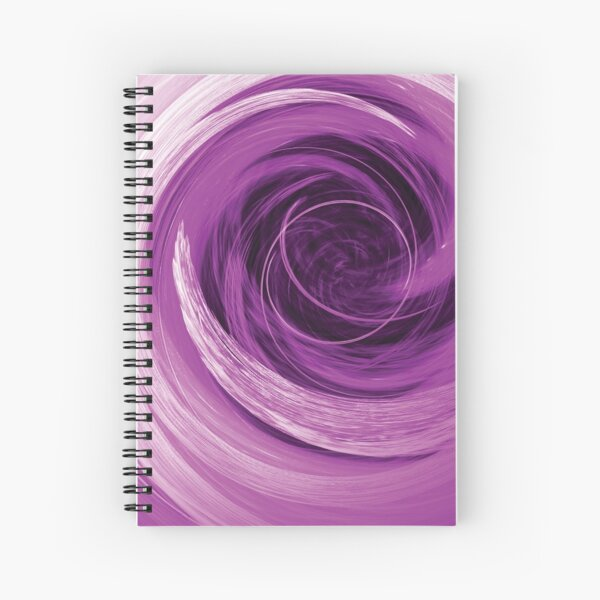 Purple Revolutions Abstract Spiral Notebook