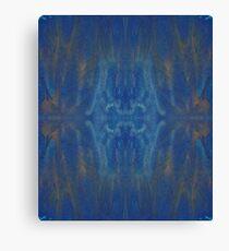 Blue Gold Fluid Painting Canvas Print