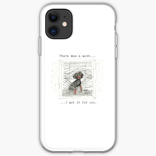 I got it for you. Sausage dog catching a moth illustration. iPhone Soft Case