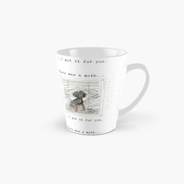 I got it for you. Sausage dog catching a moth illustration. Tall Mug